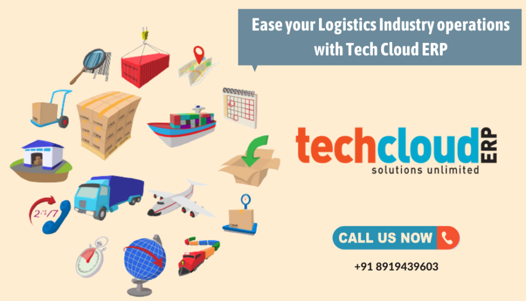 Ease your Logistics Industry operations with Tech Cloud ERP